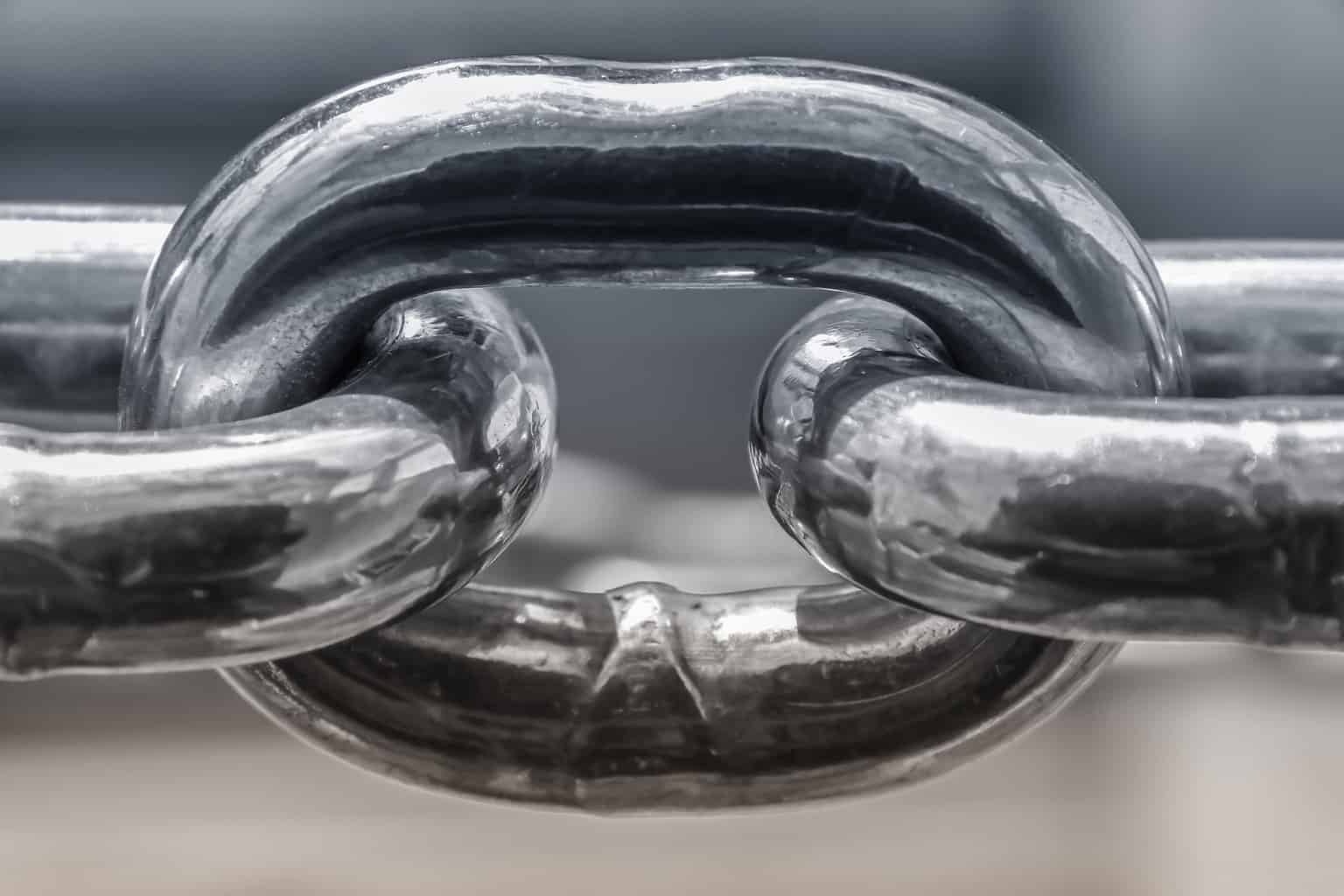 A single unit of a chain connected from each side