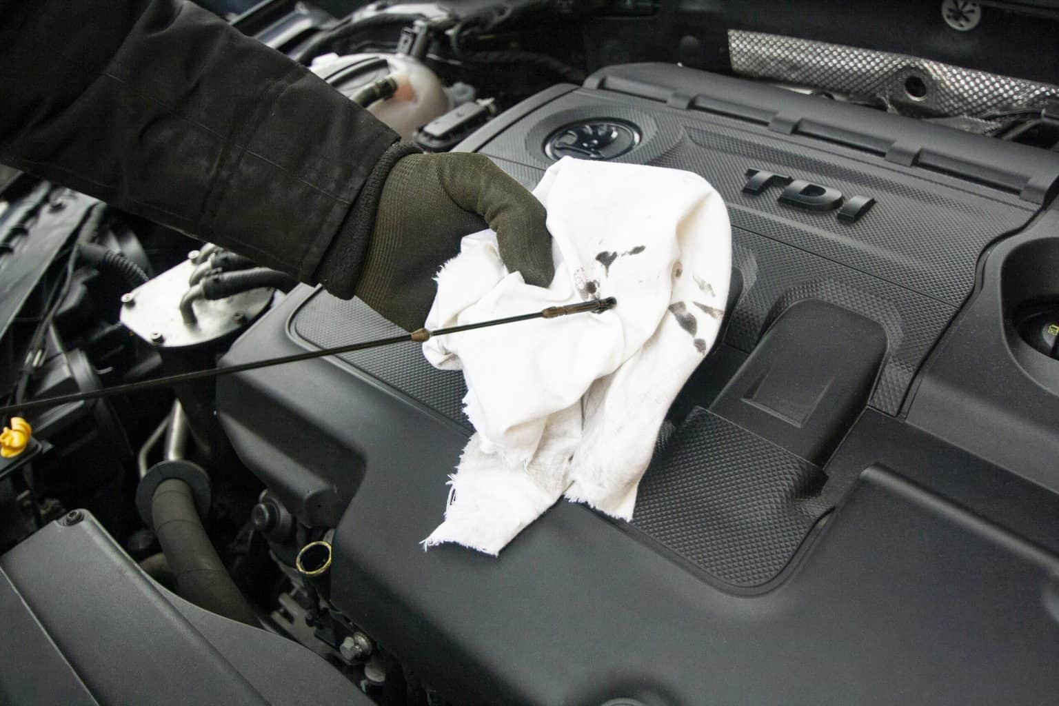An oil change check for the mechanic