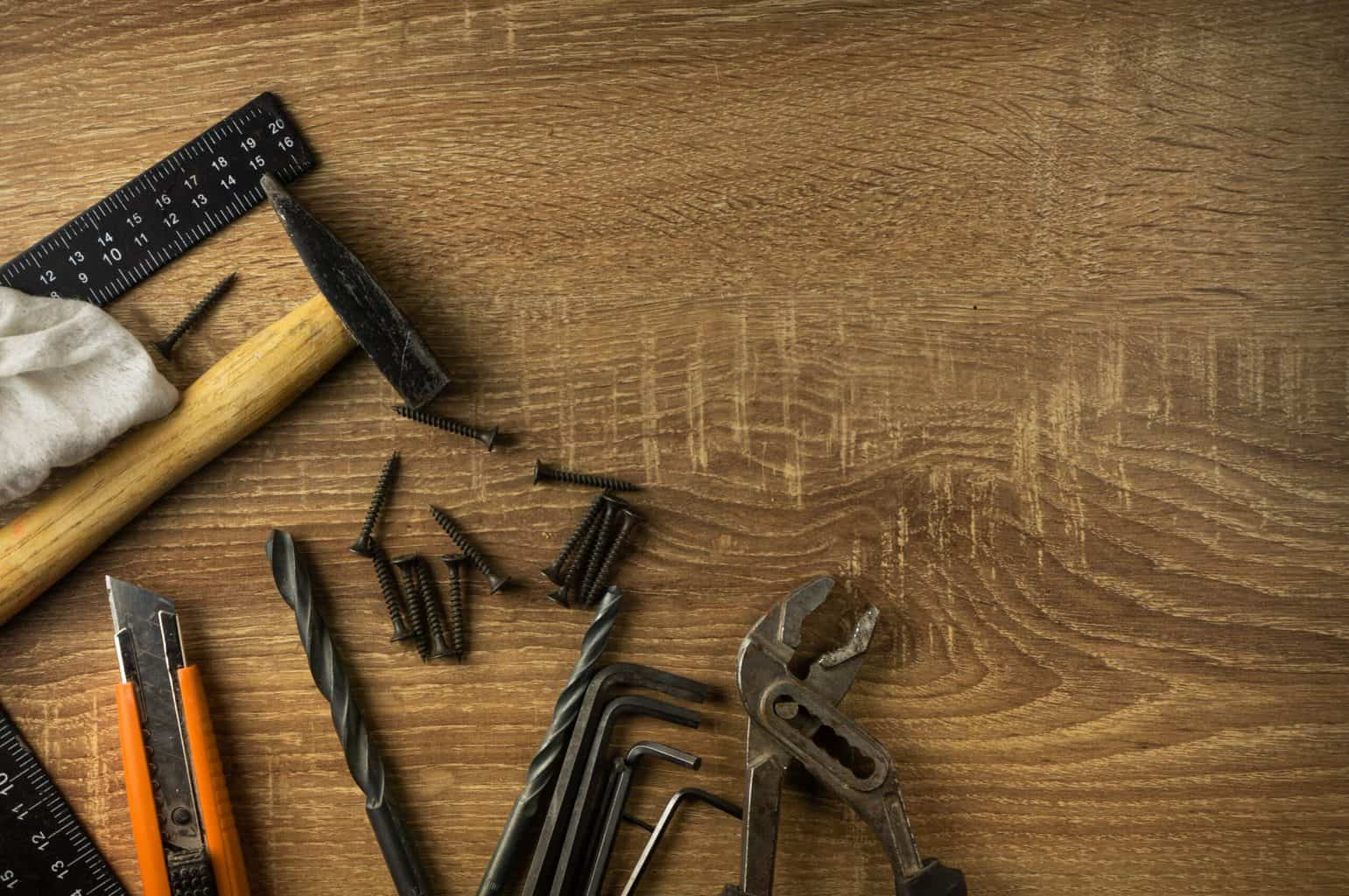 Some hand tools on the table
