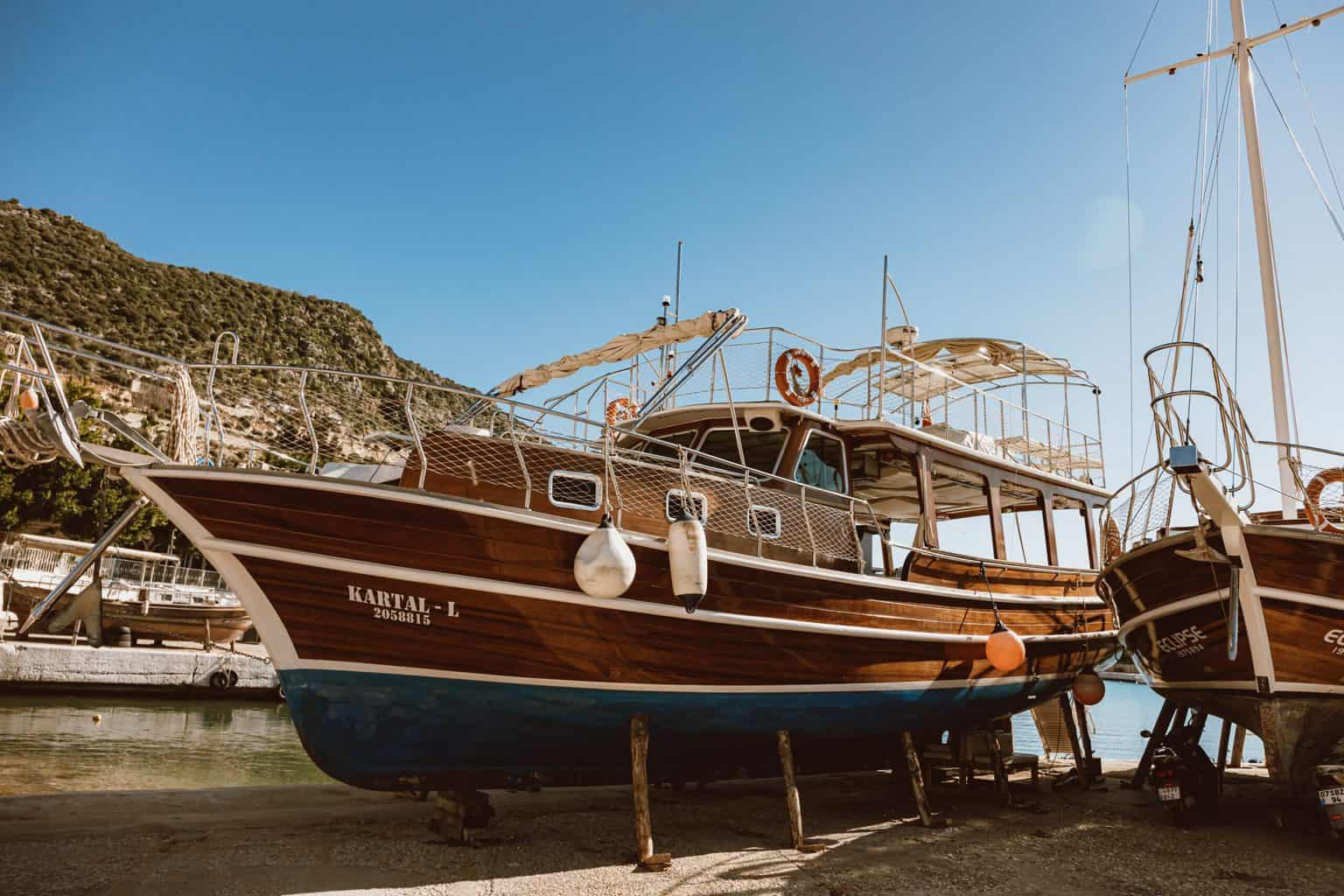 A clean brown boat