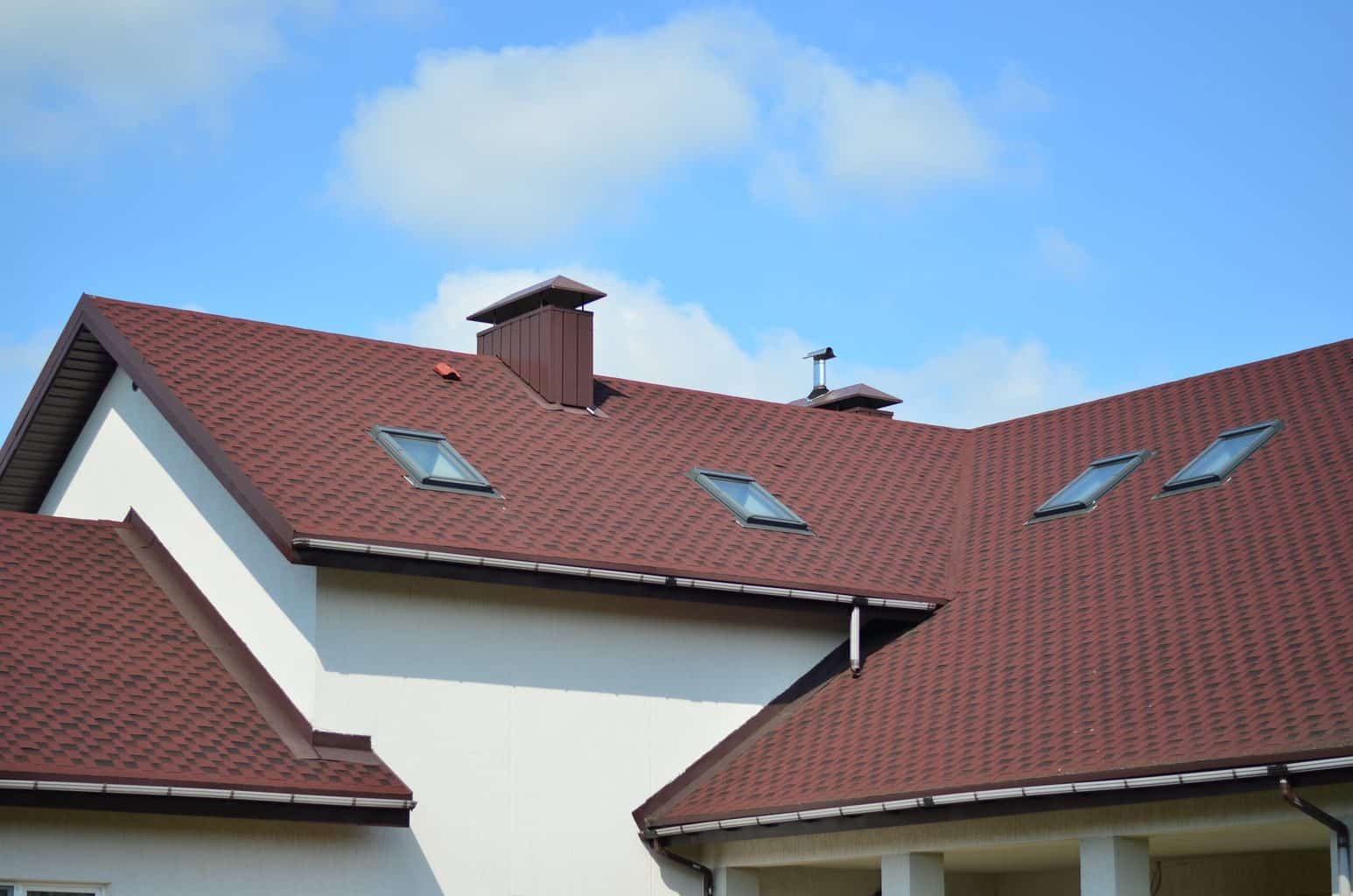 A red toned roof
