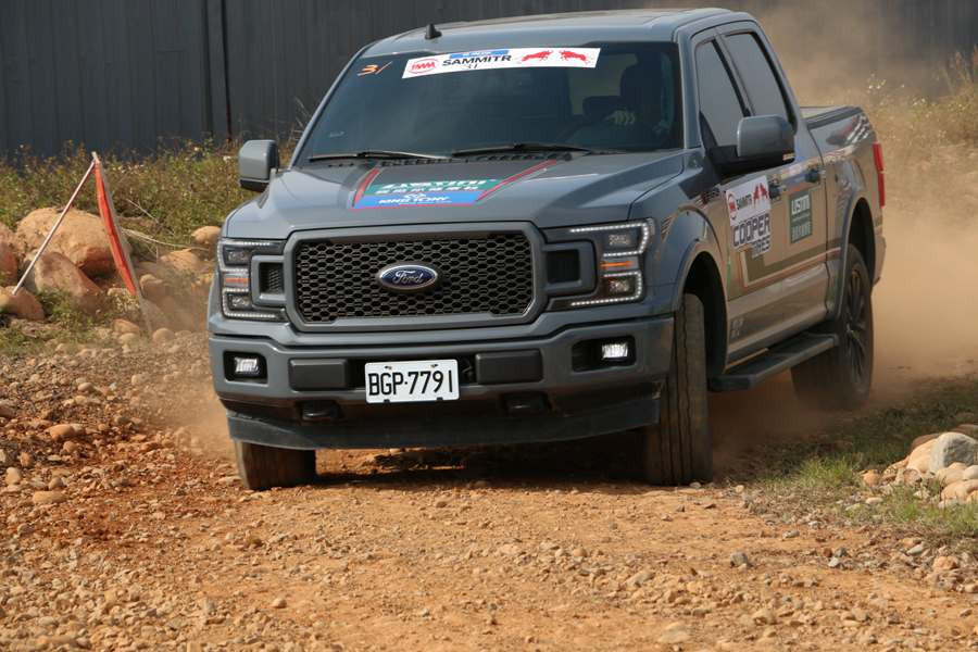 Ford F150 EcoBoost driving on a sandy path